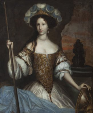 after John Michael Wright, Elizabeth Washington, c.1671 (c) National Trust